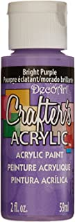 product image for DecoArt Crafter's Acrylic Paint, 2-Ounce, Bright Purple