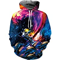 TUONROAD Unisex 3D Gedruckt Hoodie Kapuzenpullover Pullover Sweatshirt and Fleece Plush Lining Grafik Langarm Casual Top Jumper Mit Taschen S-2XL