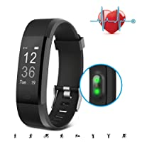 SAVFY Montre Connecté Bracelet Connecté, Tracker Activité Sport [Version Améliorée] Fitness Tracker Étanche avec Sport Mode/Calories/Notifications/Podometre/Distance etc