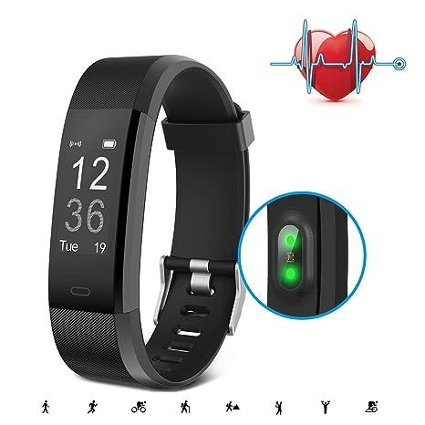 Pulsera Inteligente, SAVFY Pulsera Bluetooth con 14 Modos de Entrenamiento, Monitor de Ritmo Cardíaco