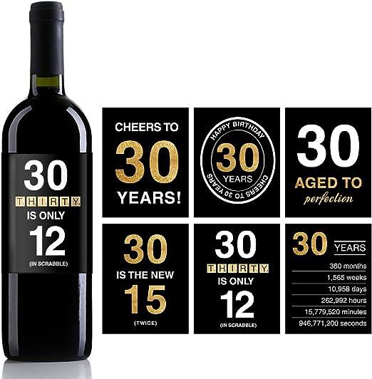 Amazon.com: Etiquetas adhesivas para botella de vino de 30 ...