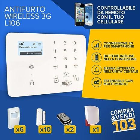 Compraevendi103 Kit de Alarma Inalámbrica GSM 3G SMS ...