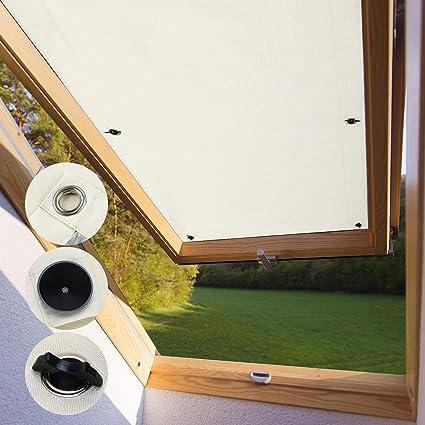 kinlo store pour fenetre de toit velux fk04 47 x 78cm beige velux rideau occultant complete avec ventouses sans percage protection solaire au