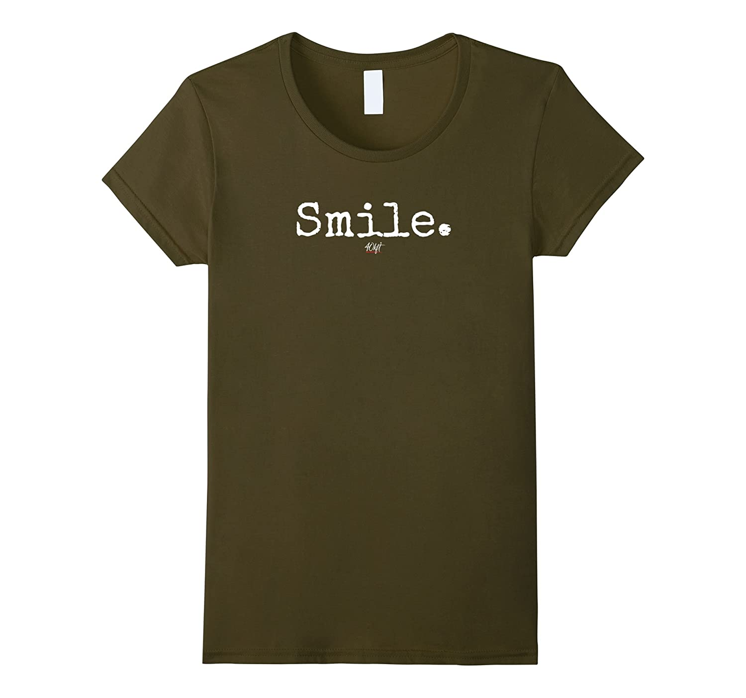 Mens Smile Tee Small Olive-Tovacu