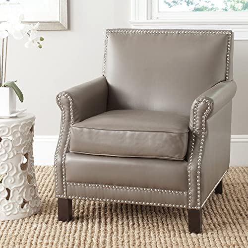 Safavieh Mercer Collection Charles Grey Linen Club Chair