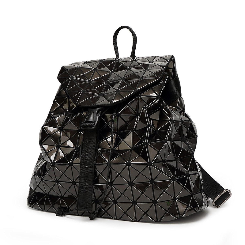Rucksack Lack Japanisch Handtaschen Glänzend Rhombus Nähen Rubiks ...