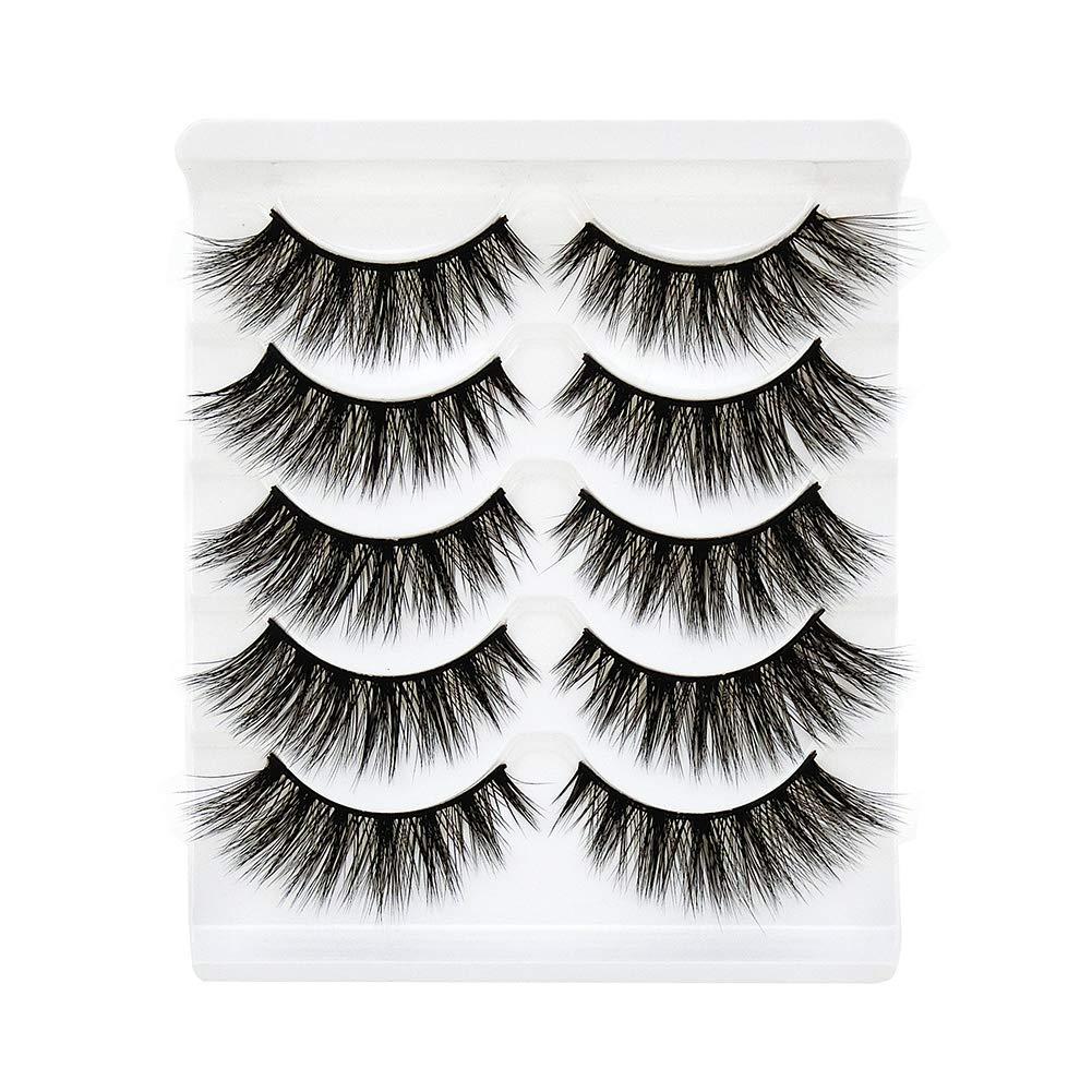 a5061628084 Bepholan Faux Eyelash 3D Mink Eyelashes Strip False Eyelashes Beauty Pack  Reusable Invisible Band Soft Long
