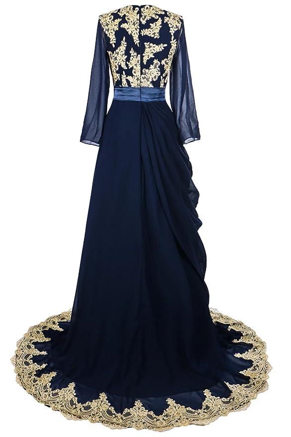 51bde4553d Amazon.com  Oyeahbridal Women s Long Muslim Abaya Dubai Evening Dress  Islamic Kaftan Gowns  Clothing