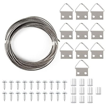 Gydandir 2 Mm 10 M Picture Hanging Wirecord With 10 Crimp Tube 10