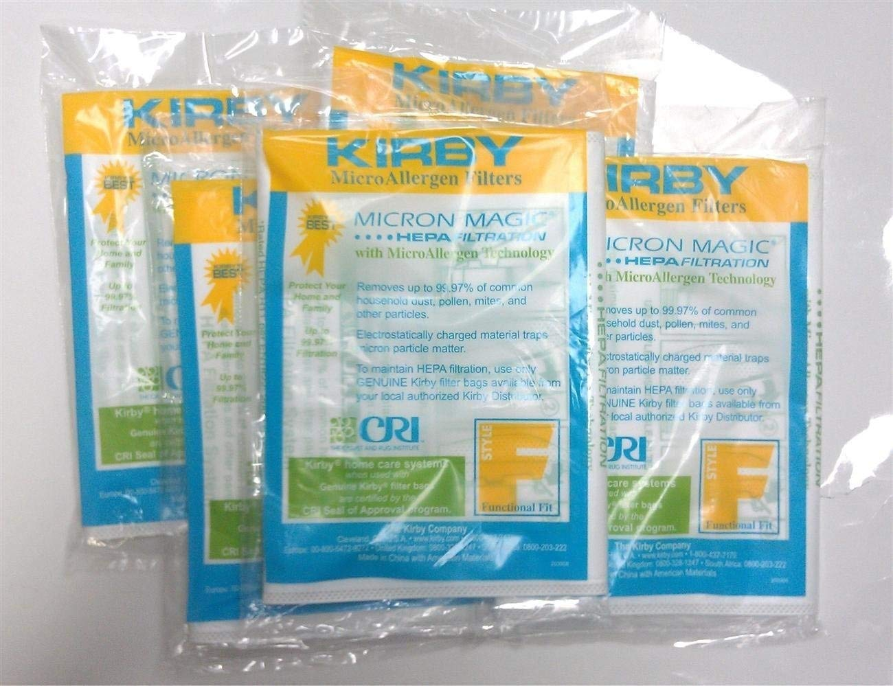 Kirby Santria Hepa bags Type F 10bags Zvac