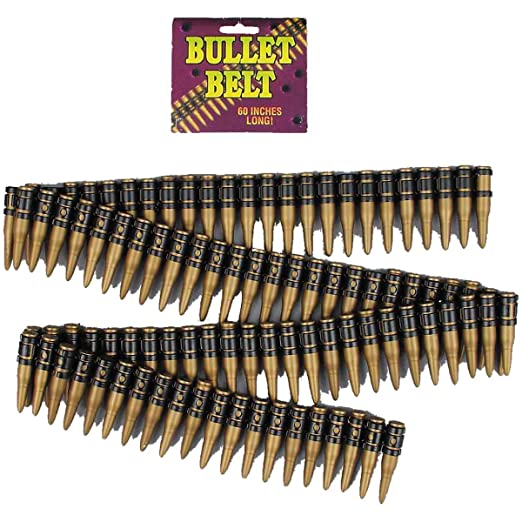 e43b828fe6 Amazon.com  Deluxe Bullet Belt Costume Accessory  Clothing