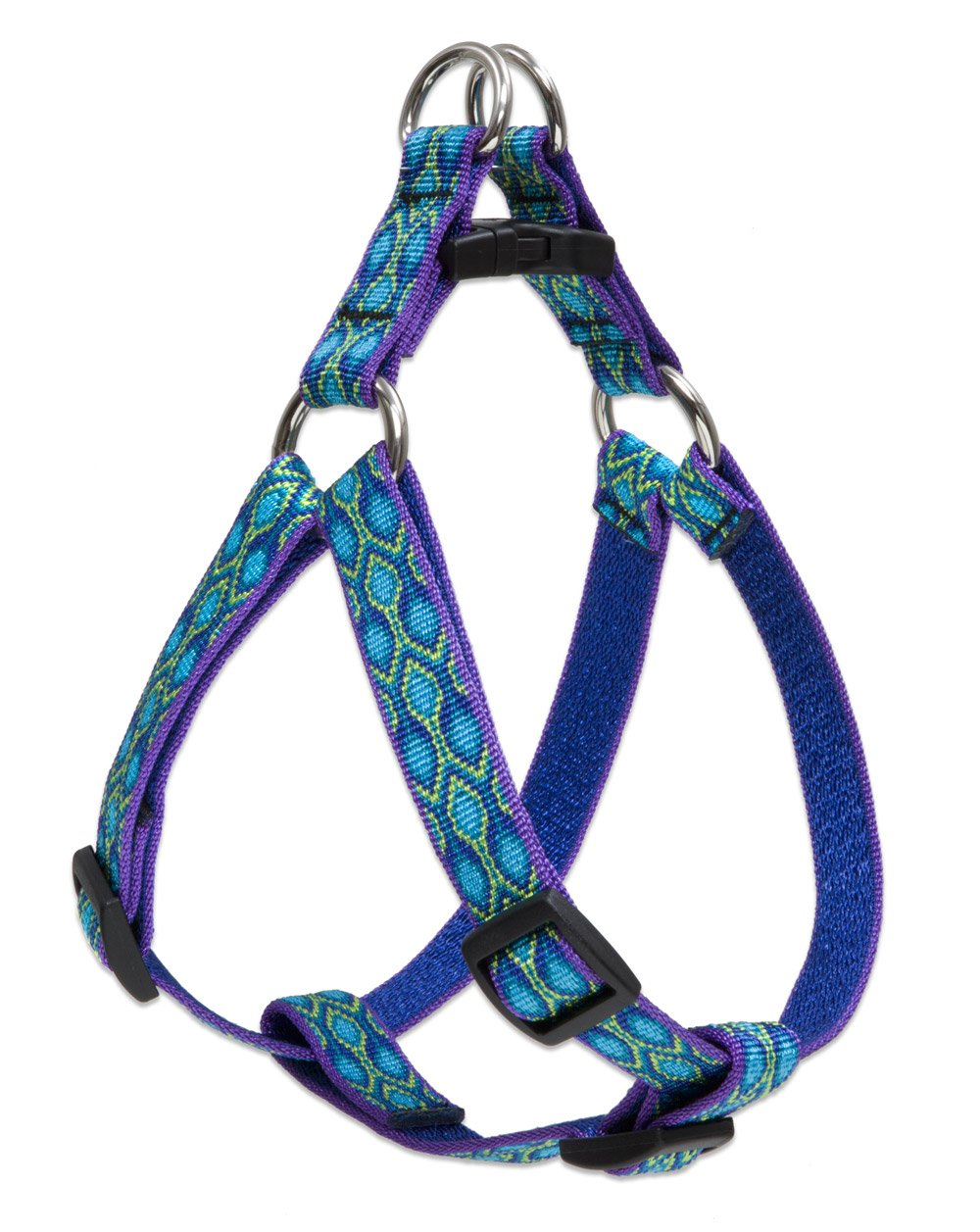 LupinePet Originals 3/4'' Rain Song 20-30'' Step In Harness for Medium Dogs