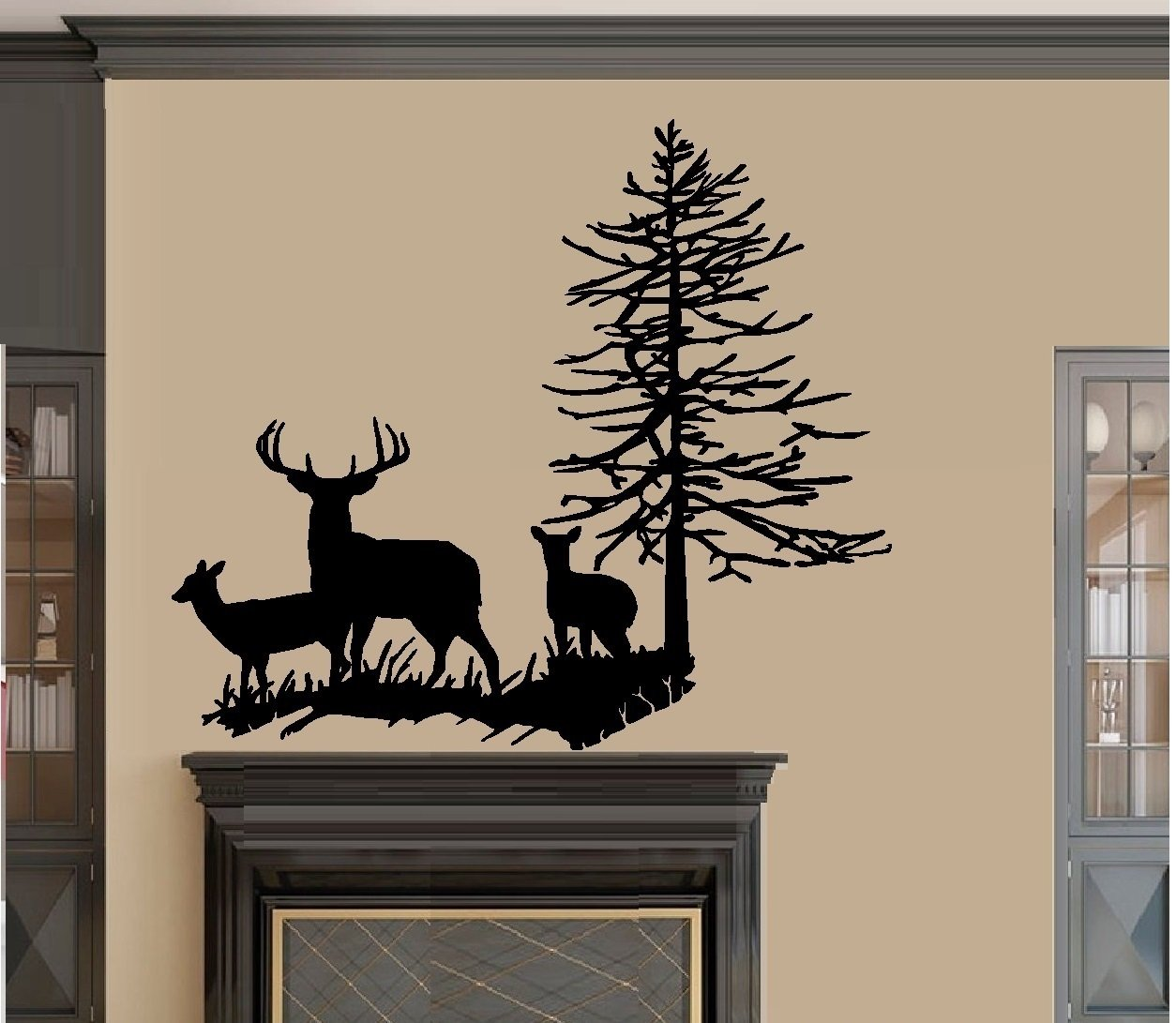Amazon deer family with tree wall decal large 22 x 27 amazon deer family with tree wall decal large 22 x 27 home kitchen amipublicfo Choice Image