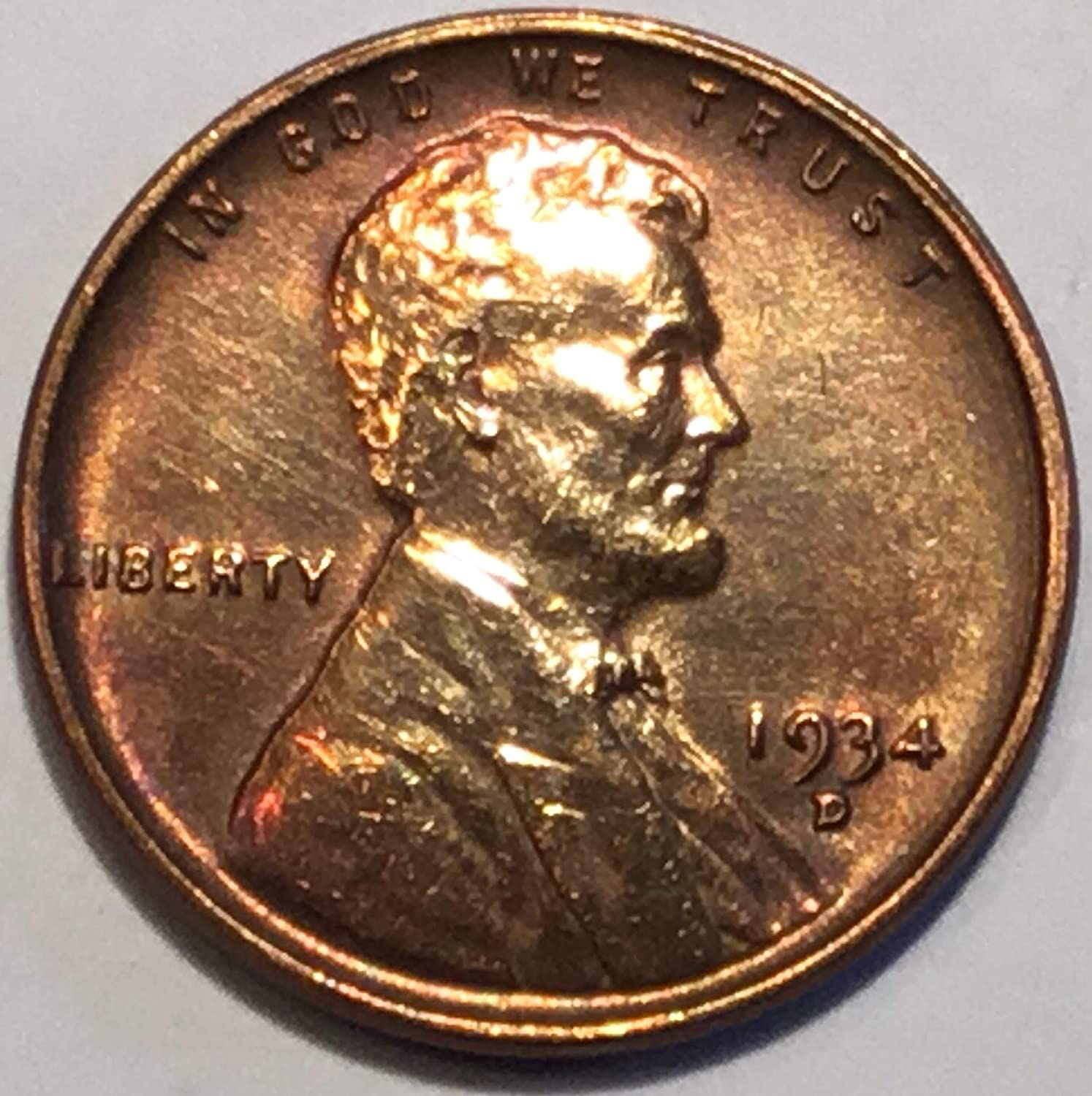 1947 D Lincoln Wheat Cent Choice BU Red US Coin