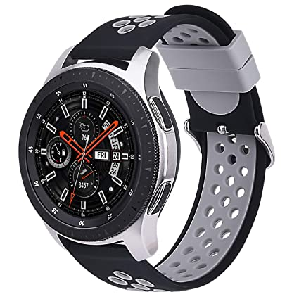VIGOSS Compatible with Galaxy Watch 46mm / Gear S3 Frontier Bands,22mm Soft Silicone Band Breathable Replacement Strap Wristband for Samsung Gear S3 ...