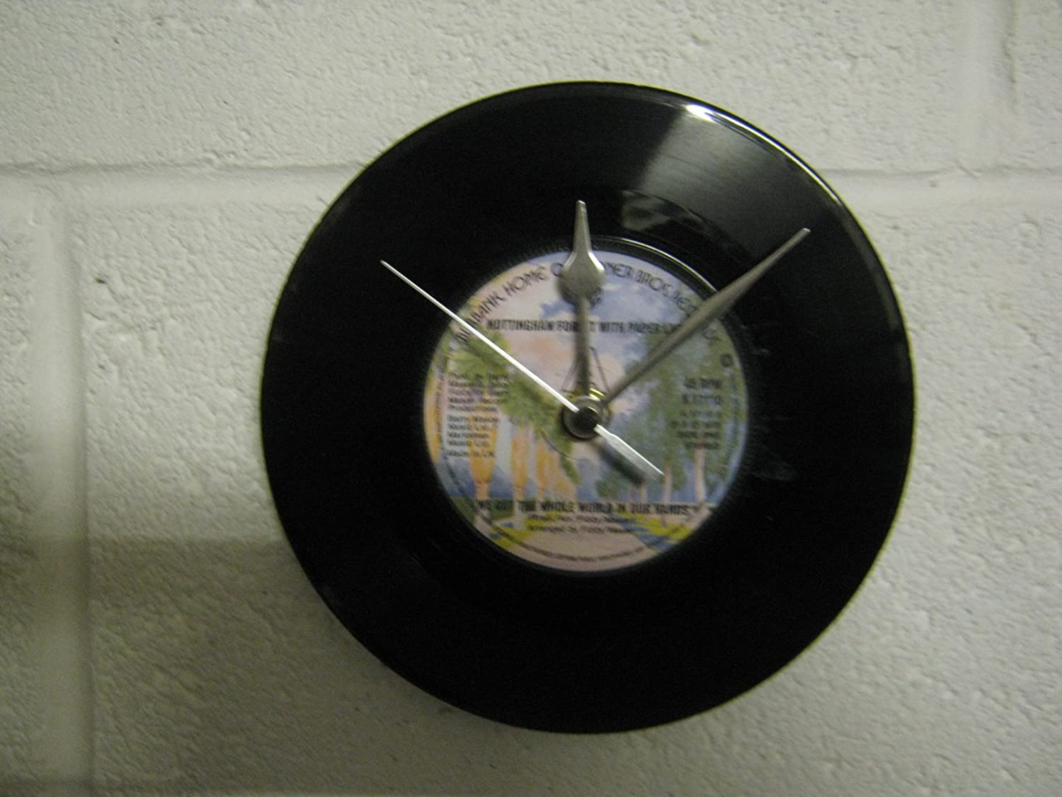 7 Vinyl Record Wall Clock Nottingham Forest We Got The Whole World In Our Hands