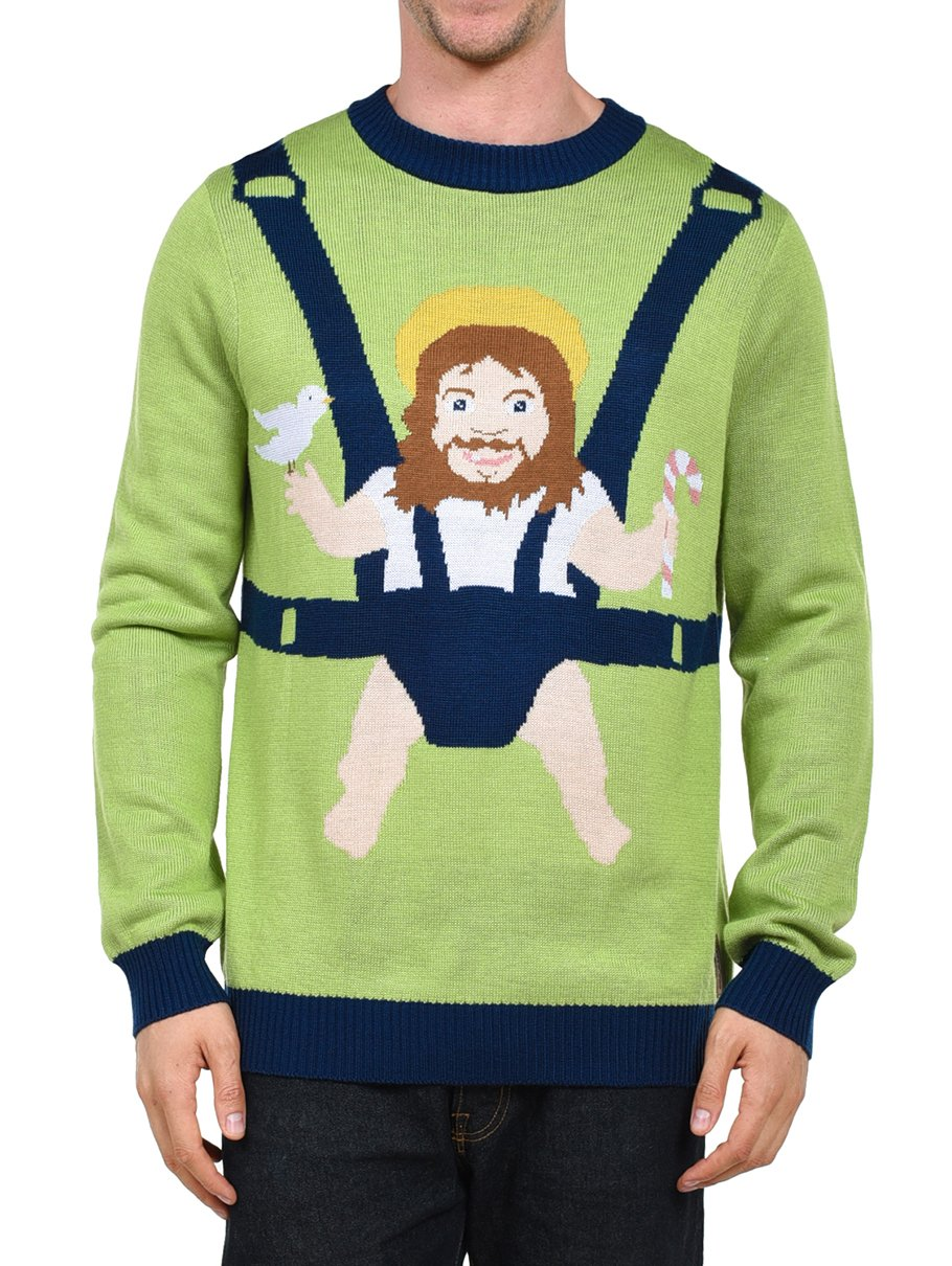 Funny Christmas Sweater.Tipsy Elves Men S Sweet Baby Jesus Ugly Christmas Sweater Funny Christmas Sweater Christmas Countdown Live
