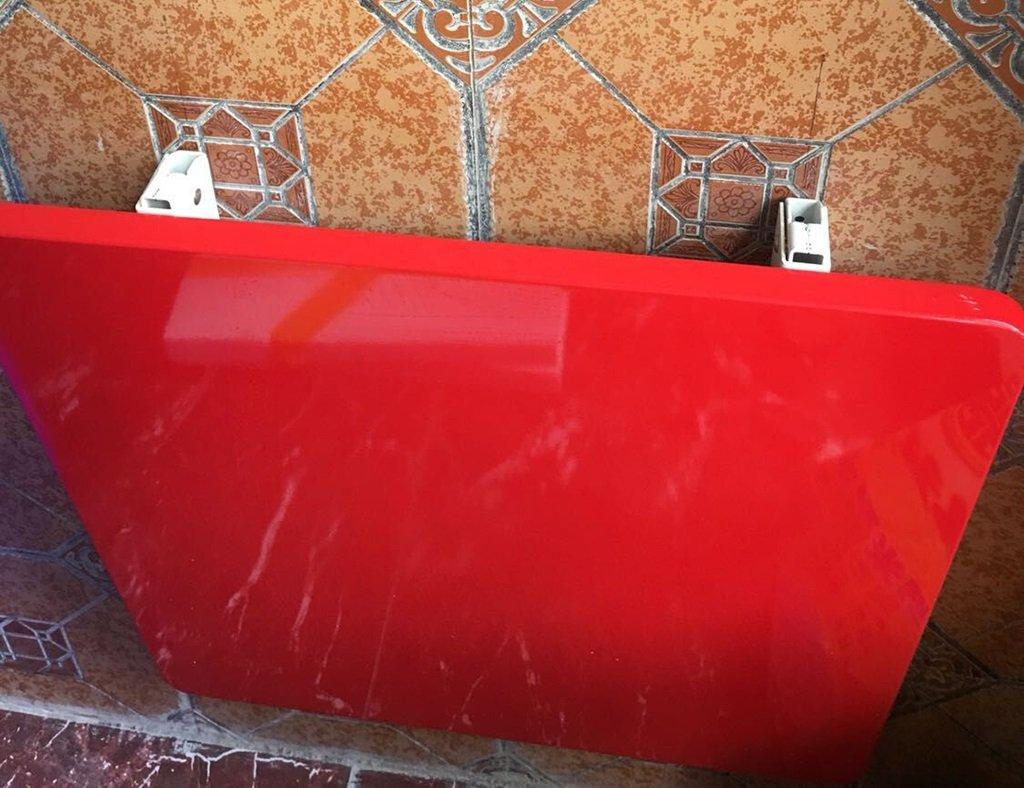 折りたたみ式壁掛けテーブル多機能長方形の目に見えないダイニングテーブル壁掛け机ライティングデスクカラーサイズオプション ( 色 : 赤 , サイズ さいず : 90cm*60cm*2.5cm ) B0796N1F5F 90cm*60cm*2.5cm|赤 赤 90cm*60cm*2.5cm