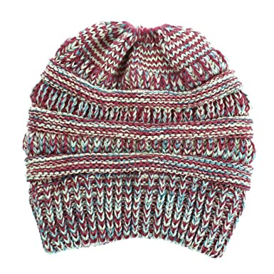 42c8985a5a9e Biback Bonnet Chapeau Tricot pour Femmes Vogue Bonnet Chaud Doux en Tricot  Léger Elastique Chapeau Fil