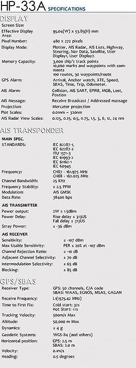& # x266b; maistore matsutec hp-33 a 4.3 inch LCD Display Clase B AIS transpondedor Combo Marine GPS Navigator: Amazon.es: Electrónica