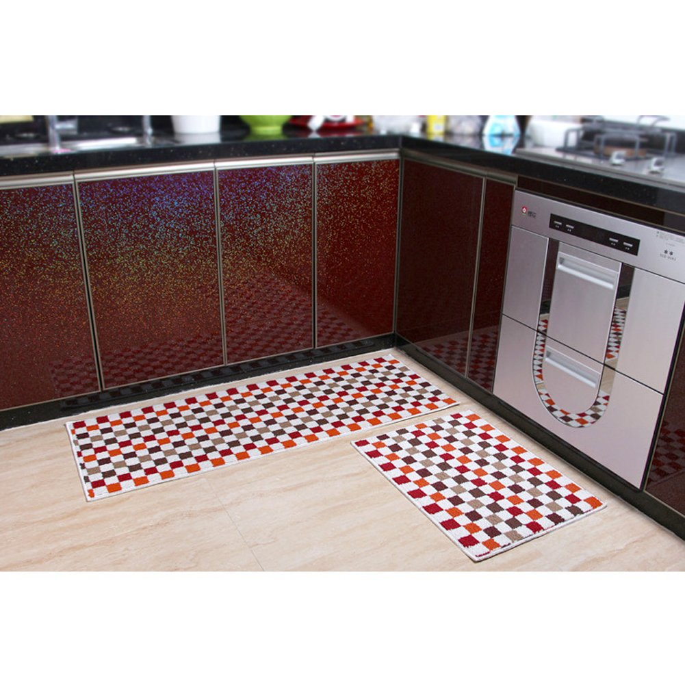 Haus- und Küchenteppich, moderner Teppich, rutschfeste Küchenmatte ...