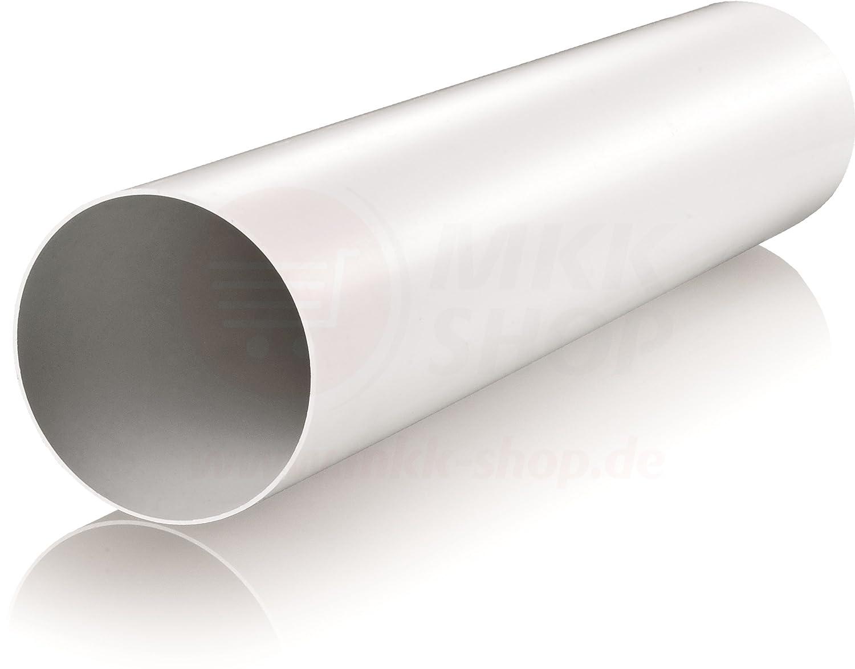 Turbo Kunststoff Lüftungs Rohr Ø 100 mm 1 m (100 cm) PVC ABS Lüftung  GW88