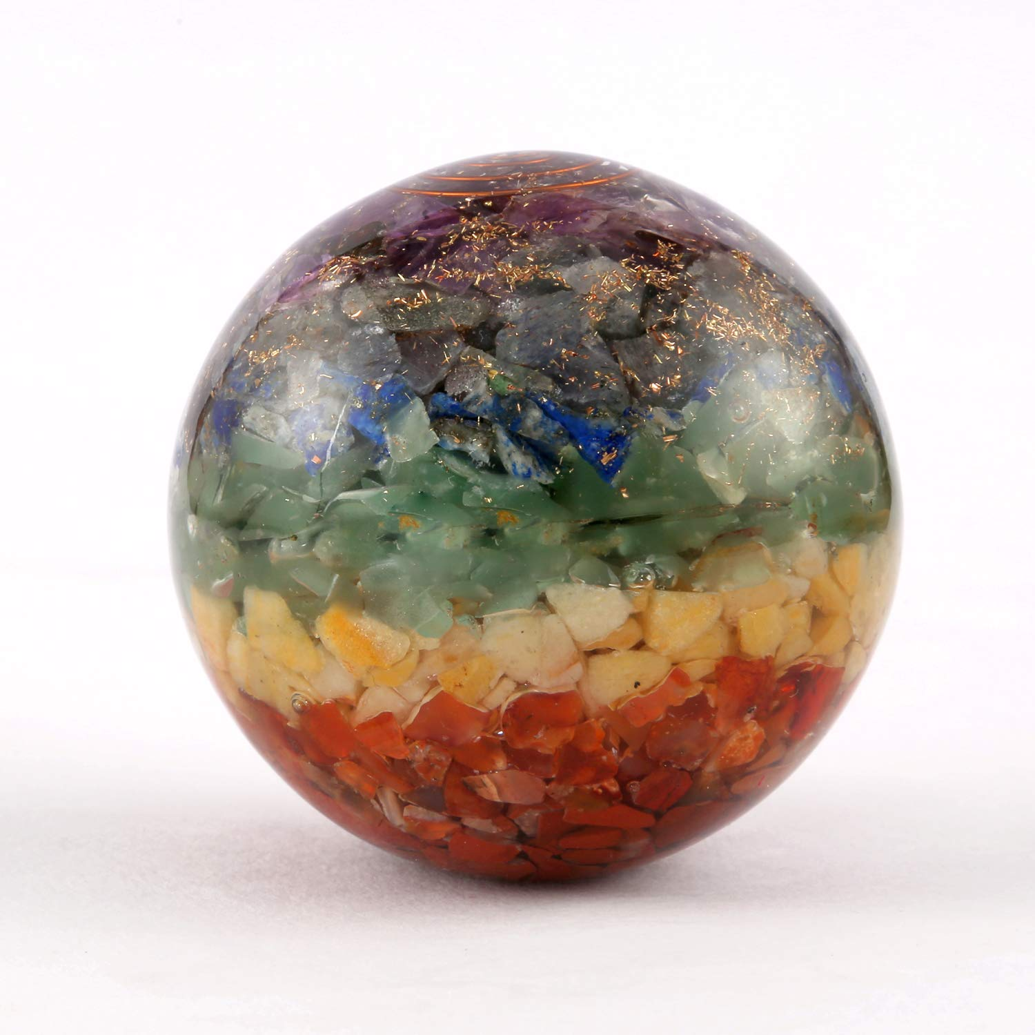 Aatm Healing Gemstone Seven Chakra Sphere Ball Aatm Collection GAPC-157