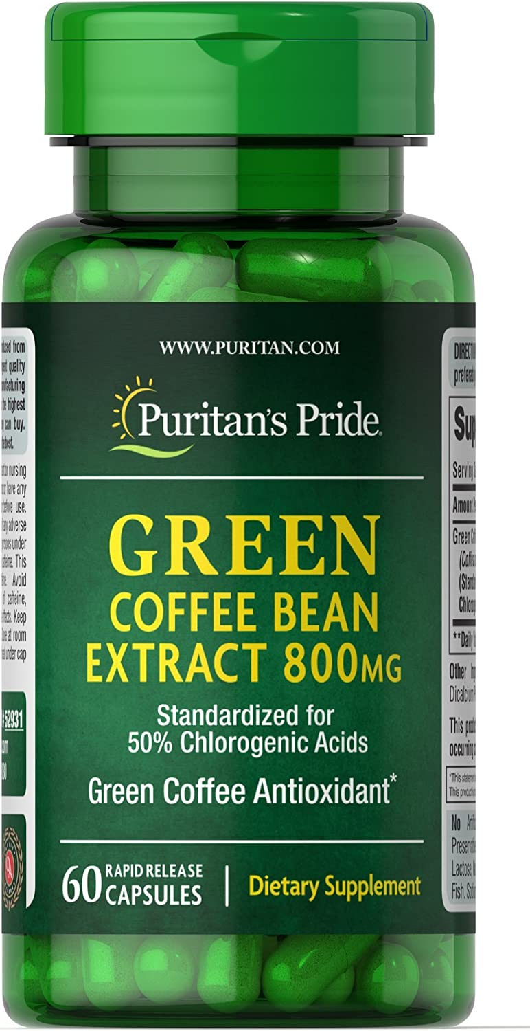 Amazon Com Puritan S Pride Green Coffee Bean Extract 800 Mg 60