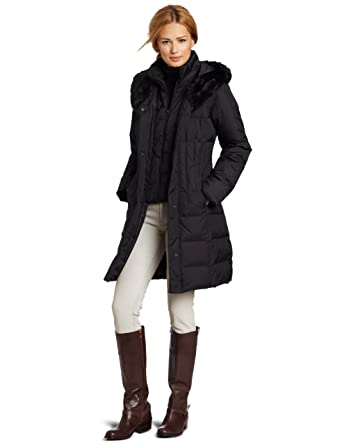 9bf7c4ed3d1 Amazon.com  LARRY LEVINE Women s 3 4 Length Down Coat