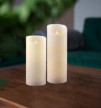 Decoking 41574 2tlg Led Kerzen 15 Cm Und 20 Cm Mit Beweglicher