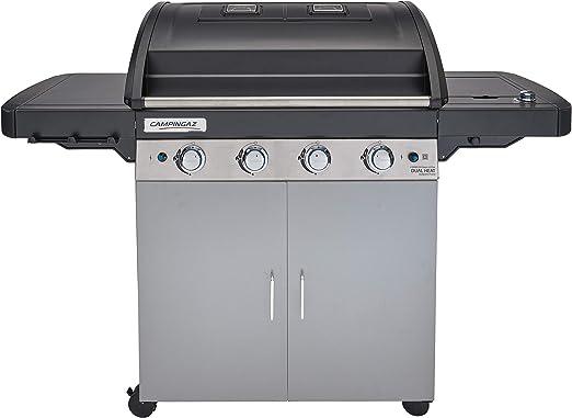 Campingaz Barbecue 4 Series Dual Heat Ls Plus Bbq Avec 2 Zones De Grill 4 Brûleurs Puissance 128kw Système De Nettoyage Facile Instaclean Grille
