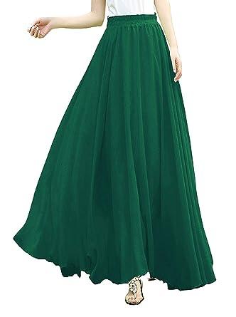 Pleated chiffon maxi skirt amazon