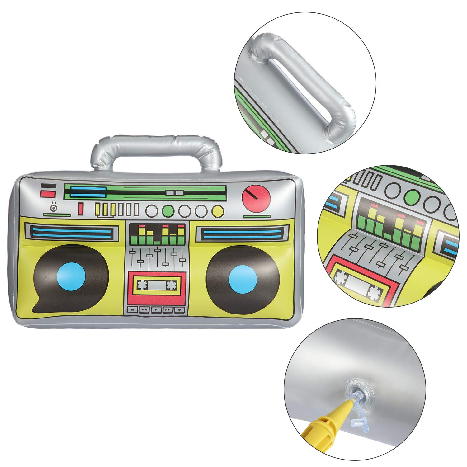 meekoo Radio Inflable de 16.5 Pulgadas Radio Inflable ...