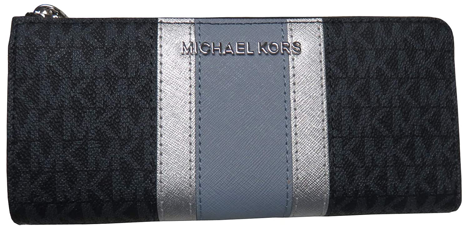 Michael Kors Jet Set Travel Large Three Quarter Zip Wallet Admiral