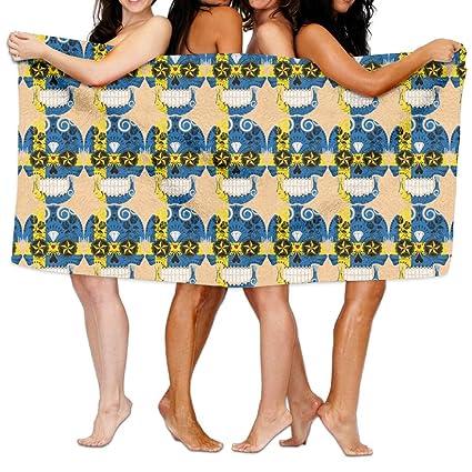 aymitao sueco bandera calavera toalla de baño cómodo manopla de baño absorbente hoja