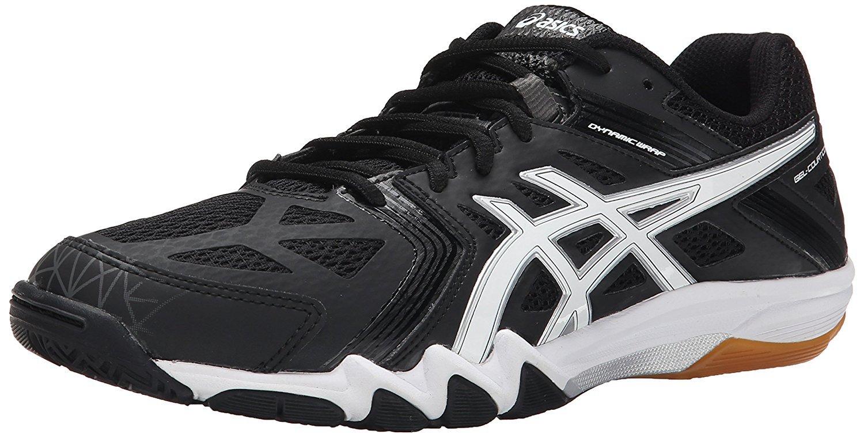 ASICS Men's Gel-Court Control Volleyball Shoe, Black/White/Graphite, 15 M US