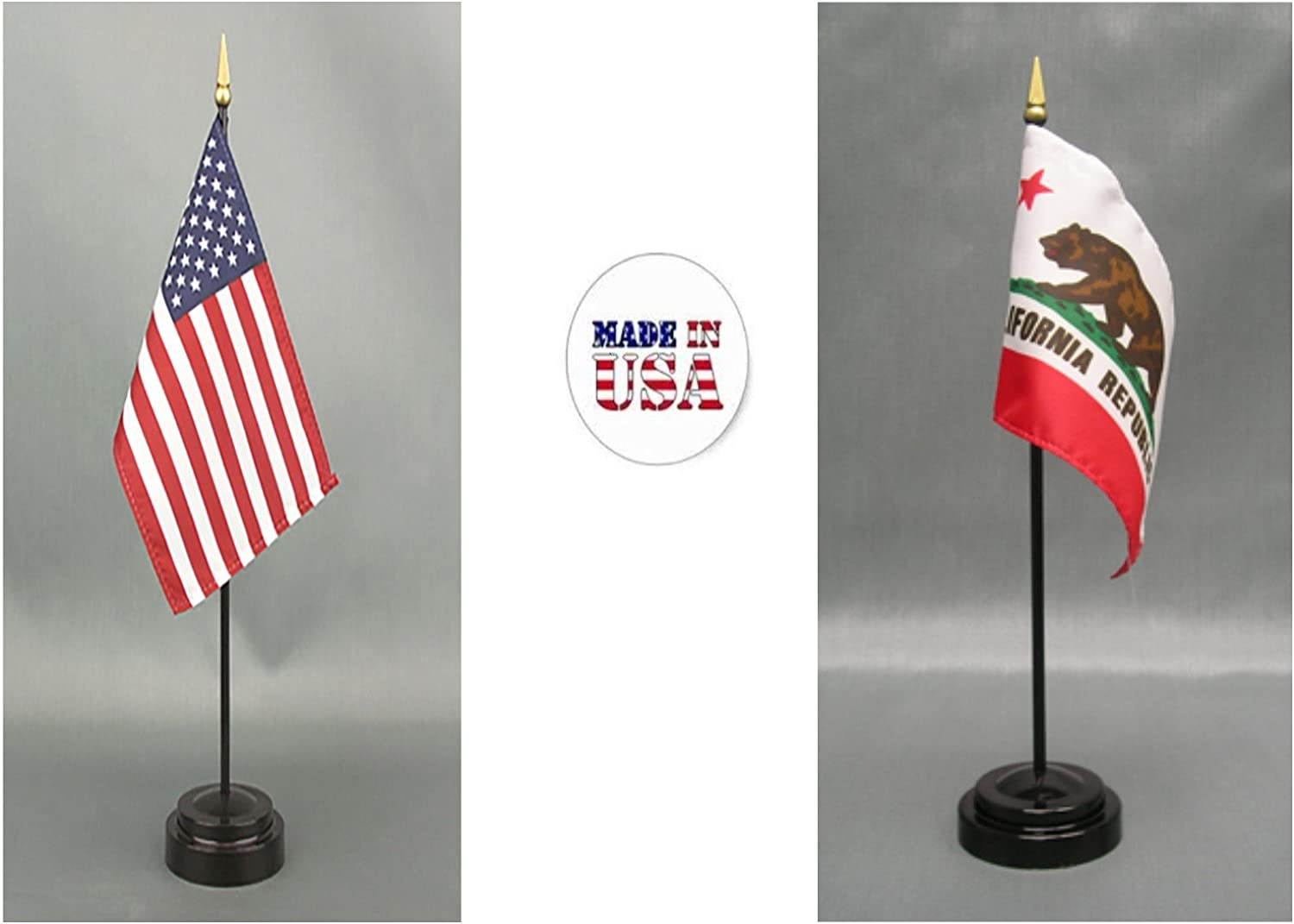 "California US State Small Hand Waving Flag 6/"" x 4/"""