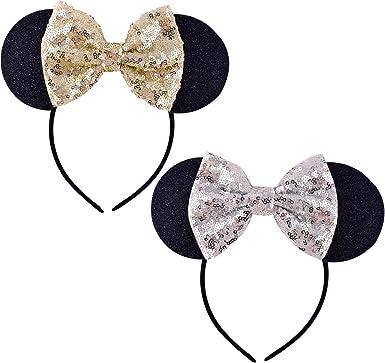 """DIY headband /& hair bow supplies 3 pieces silver 2/"""" sequin bow"""