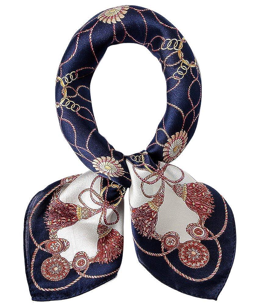 EEVASS Multifunzione Sciarpa in Raso Quadrato Foulard di Seta Moda per Donna