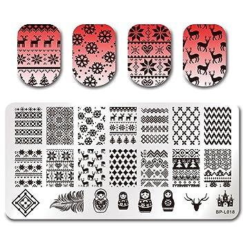 Amazon Born Pretty Nail Art Stamping Plate Christmas