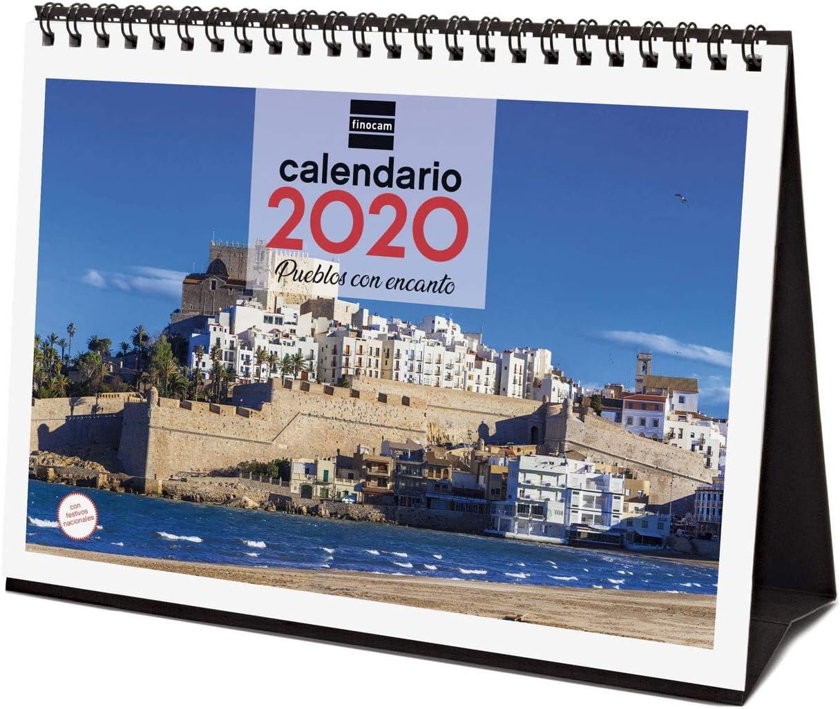 Finocam - Calendario de sobremesa 2020 Imágenes Pueblos con Encanto español