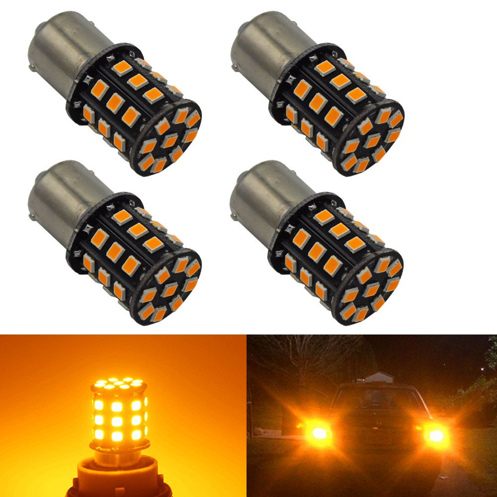 BlyilyB 194 LED Light Bulb Super Bright Amber Yellow 168 2825 W5W T10 Wedge 2835SMD LED Replacement Bulbs for Car Dome Map License Plate Lights (Pack of 10)