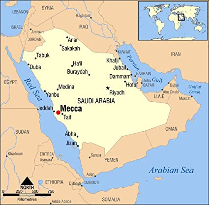 Mecca On Map Amazon.com: Gifts Delight Laminated 20x20 Poster: Mecca, Saudi