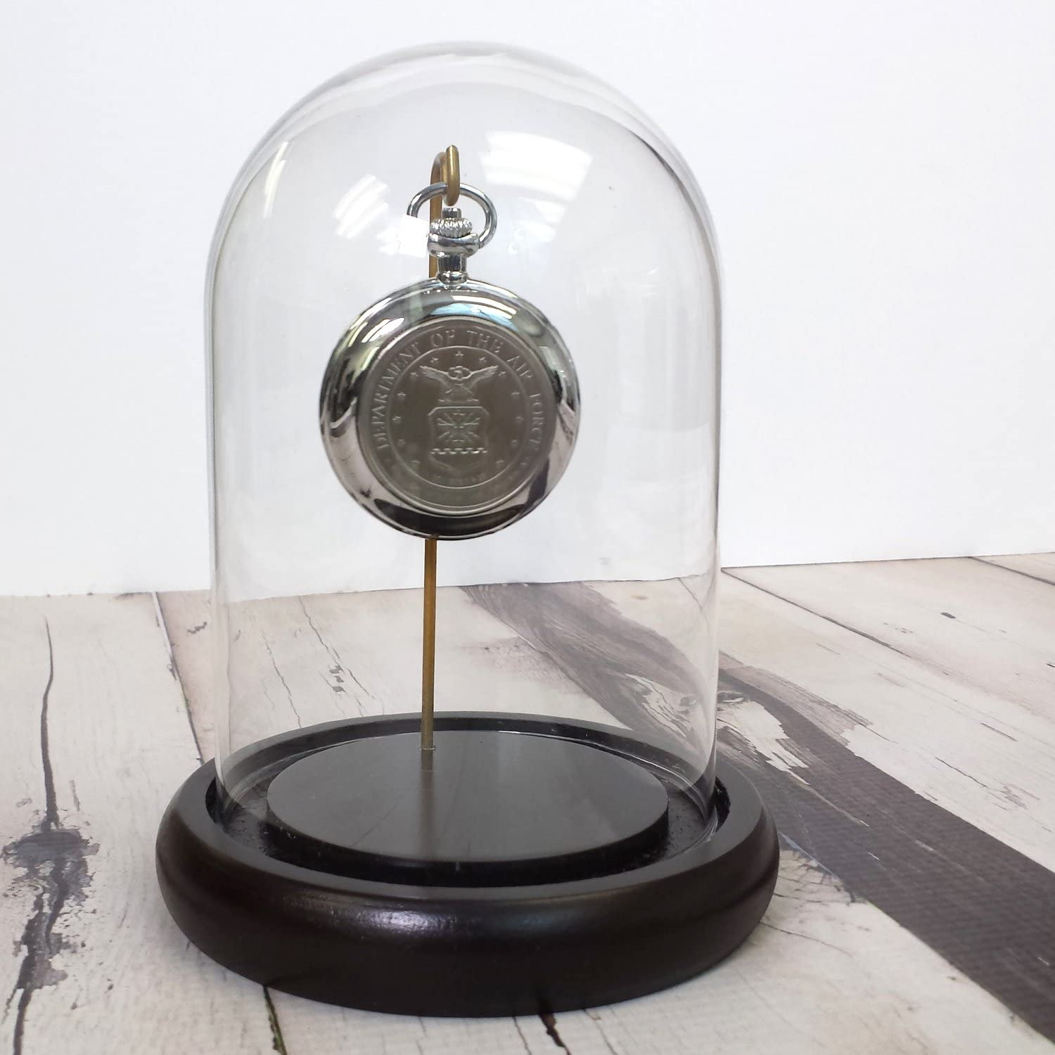 3 different metal finishes Glass Display Dome with center hook