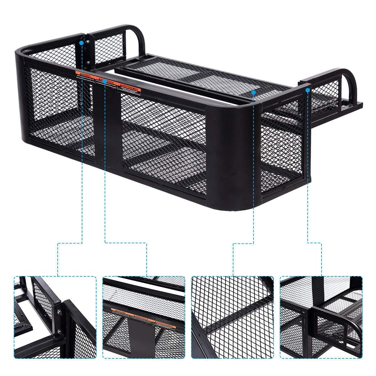 ATV UTV Universal Steel Cargo Hunting Rear Drop Basket Rack Universal Front Set by USA_BEST_SELLER (Image #1)