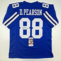 $99 » Autographed/Signed Drew Pearson Dallas Blue Football Jersey JSA COA
