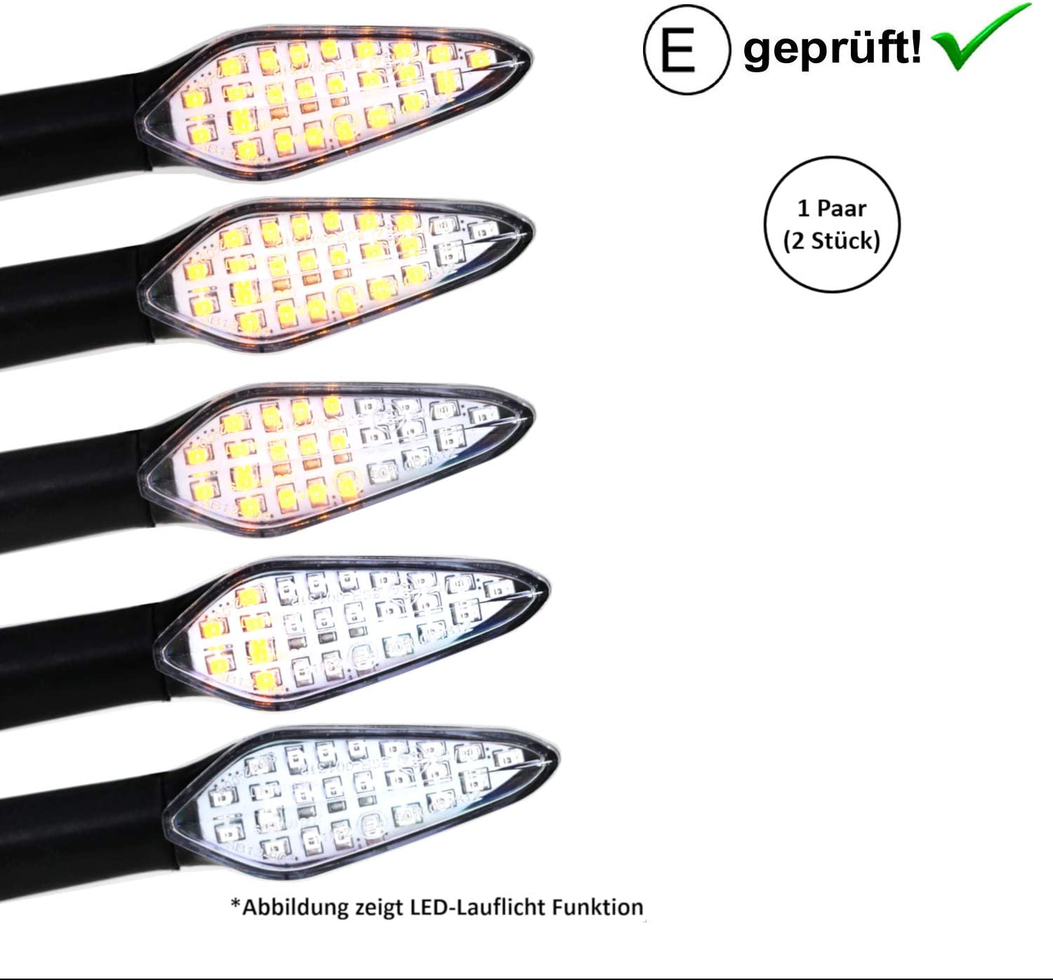E-Test/é // B5 Lot de 2 clignotants LED Hond-a CBF 250 Shadow 125 VT 125 C Shadow PES