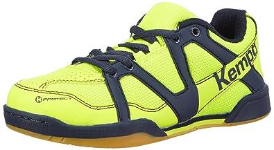 fa1d6ca4844e3 Kempa Team Junior, Chaussures de Handball Mixte Enfant - Multicolore -  Mehrfarbig (Fluo Gelb