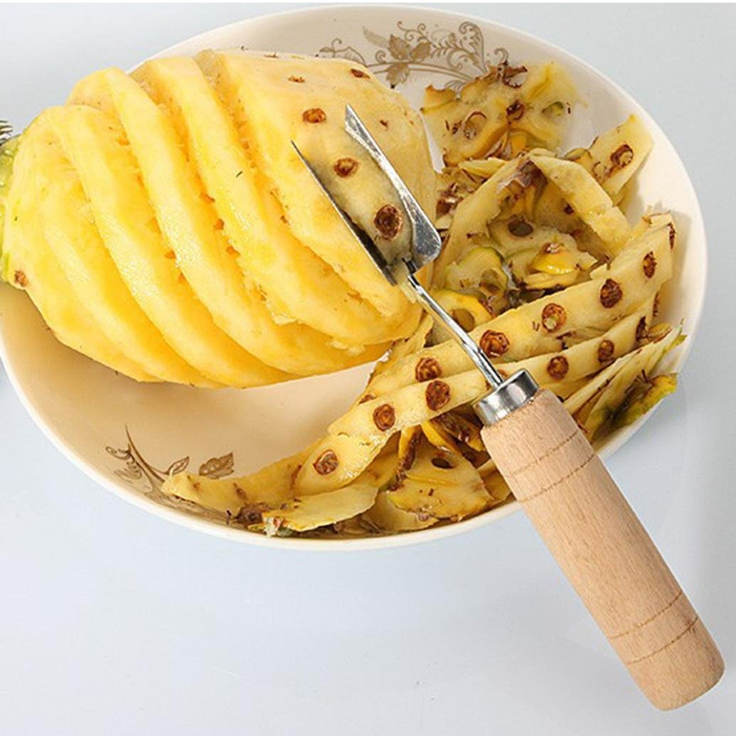 Diadia Stainless Steel Cutter Pineapple Eye Peeler Pineapple Seed Remover Clip Home Kitchen Tools