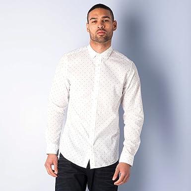 ecb9d30b0d Jack   Jones Mens Mens Blackpool Printed Shirt in White - XL  Jack ...